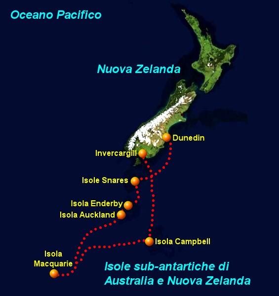 Cartina Nuova Zelanda.Crociera Alle Isole Subantartiche Di Australia E Nuova Zelanda Foto Isole Sub Antartiche