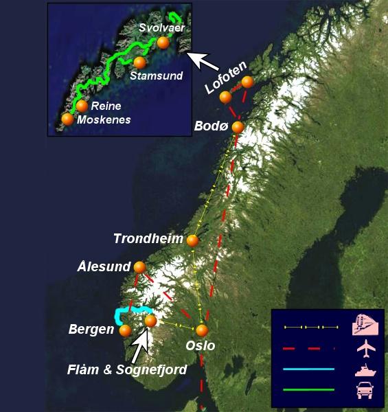 La Norvegia Cartina.Foto E Immagini Dalla Norvegia Racconto E Guida Di Viaggio Da Oslo A Flam Sognefjord Bergen Alesund Isole Lofoten Bodo E Trondheim
