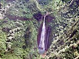 Cascata sull'isola Kauai, Hawaii, USA