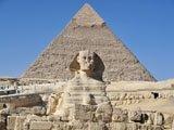 Piramide e Sfinge in Egitto
