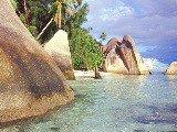 La Digue, isole Seychelles