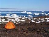 Campeggio isola Ellesmere, Nunavut, Canada