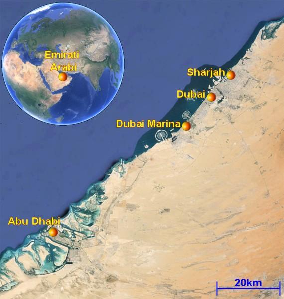 Cartina Turistica Dubai.Tour Negli Emirati Arabi Informazioni Su Dubai E Abu Dhabi