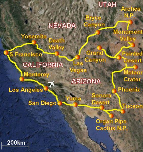 Grand National Car >> Viaggio nel sud-ovest degli USA. California, Arizona, Grand Canyon, Monument Valley, Utah, Bryce ...