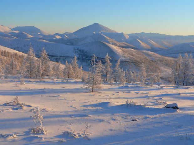 Viaggio da yakutsk a tomtor via ust nera in aereo e in for Disegni paesaggio invernale